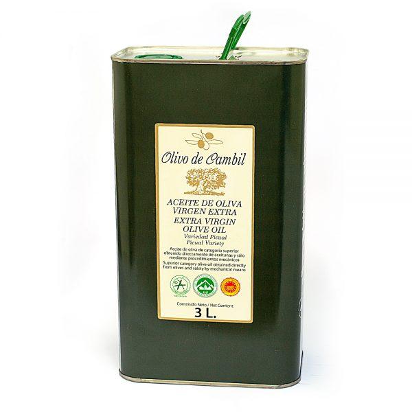 Olivo de Cambil Aceite de Oliva Virgen Extra Lata 3 L
